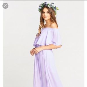 Show me your mumu Hacienda Maxi Dress Lilac Crisp